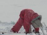 Варвара-первый выезд на лыжах. Автор О.Богачёва